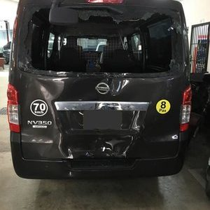 Before dent repair van